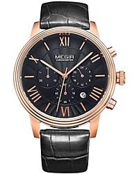 Men's Women's Unisex Sport Watch Dress Watch Skeleton Watch Fashion Watch Wrist watch Quartz Calendar Genuine Leather Band Charm Casual