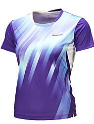 Men's Short Sleeve Running Tops Breathable Comfortable Summer Sports Wear Badminton Polyester Loose Dark Blue Purple Solid