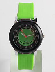 Fashion Watch Quartz / Silicone Band Casual Green Brand