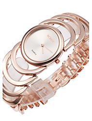 Mulheres Relógio Elegante Japanês Quartzo Lega Banda Bracelete Elegantes Dourada Ouro Rose Dourado Ouro Rose