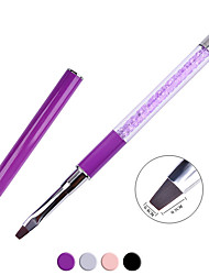 1PCS Manicure Flat Pen Painting Brush Brush Drill With Phototherapy