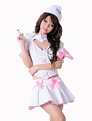 Fantasias de Cosplay Enfermeiras Festival/Celebração Trajes da Noite das Bruxas Branco Cor Única Carnaval Feminino Algodão