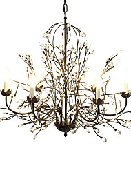 Chandelier ,  Traditional/Classic Rustic/Lodge Retro Lantern Country Globe Vintage Painting Feature for Crystal MetalLiving Room Bedroom