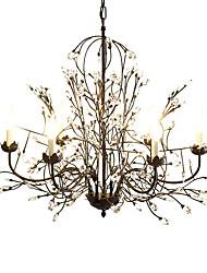 40 Lustre ,  Traditionnel/Classique Rustique Retro Rétro Lanterne Globe Peintures Fonctionnalité for Cristal MétalSalle de séjour Chambre