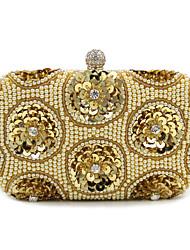 L.west Women Elegant High-grade Imitation Pearl Sequins Evening Bag