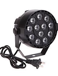 u'king® 15w 12LEDs RGBW DMX 512 som activado mestre-escravo luz fase 8 do canal para o disco partido 1pcs casamento clube KTV