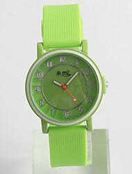 Fashion Watch Quartz / Silicone Band Casual Green Brand Strap Watch