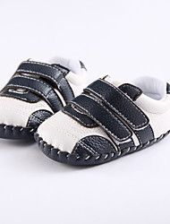 Baby Flats Spring Fall First Walkers Leatherette Outdoor Casual Low Heel Magic Tape Black Light Purple Blue Walking
