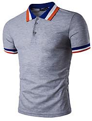 Solide Einfach Lässig/Alltäglich T-shirt,Rundhalsausschnitt Kurzarm Blau Rot Weiß Braun Grau Orange Gelb Baumwolle