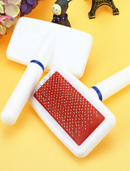 Cat Dog Grooming Cleaning Comb Pet Grooming Supplies Portable White