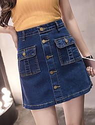 unterzeichnen Jeansrock Röcke weibliche Größe Frauen Fett mm koreanische Version von Frühling und Sommer ein Wort Rock hoher Taille