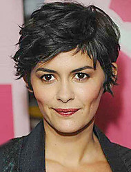 Black Short Naturally Fashionable Hot Synthetic Wig