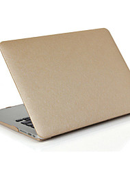 Silk Pattern PU Leather Protector Hard Case  Screen Film For Macbook Air 11.6 13.3