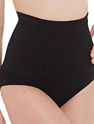 Women's Maternity Postpartum Slimming Corset Jacquard Shaping Panties High Waist Elasticity Nylon Medium Beige/Black