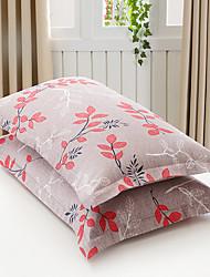 Floreale Set Copripiumino 2 pezzi Cotone Misto cotone A fantasia Stampa Cotone Misto cotone 1 piazza e mezzo Copri cuscino (2 pz.)