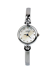 Women's Sport Watch Quartz Alloy Band Silver