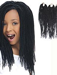 """Спиральные плетенки Сенегал Kanekalon Черный как смоль Наращивание волос 12"""" косы волос"""