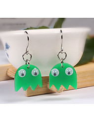 Non Stone Earrings Set Jewelry Daily Casual Alloy Resin 1 pair Green Tea