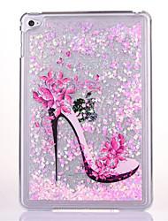 Para Liquido Flutuante Transparente Capinha Capa Traseira Capinha Brilho com Glitter Rígida PC para Apple iPad Mini 4