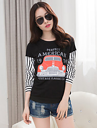 Really making 2017 spring new Korean women's fashion loose long-sleeved T-shirt shirt big yards