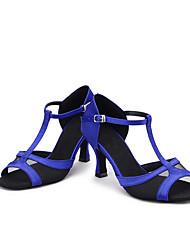 Для женщин-Атлас-Персонализируемая(Черный Синий Коричневый Фиолетовый Красный Темно-коричневый) -Латина