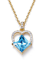 Pendant Necklaces Crystal Crystal Heart Basic Dangling Style Simple Style Dark Blue Jewelry Daily Casual 1pc
