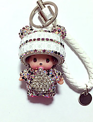Dolls Key Chain Diamond Toys Cartoon Lovely Leisure Hobby Purple Crystal
