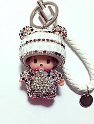 Dolls Key Chain Diamond Toys Leisure Hobby White Crystal