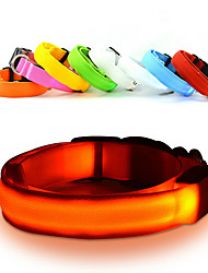 Gatos Perros Cuello Luces LED Ajustable/Retractable Seguridad Estroboscopio Sólido Arco irisRojo Blanco Verde Azul Rosado Amarillo