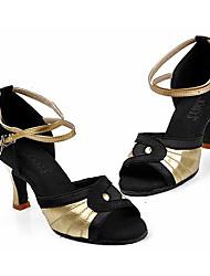 Chaussures de dansePersonnalisables-Talon Personnalisé-Satin-Latines