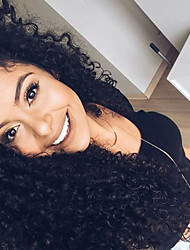 Top Grade Lace Front Human Hair Wigs Kinky Curly With Baby Hair 130% Density Brazilian Virgin Hair Curly Lace Front Wigs Natural Black Color