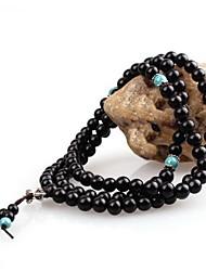 Bracelets Bois Naturel Mode Vintage Fait à la main Afrique Bijoux Noir Bijoux 1pc
