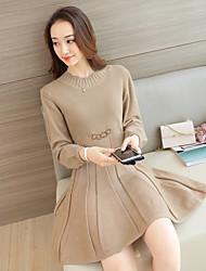 Zeichen Qualität Version 2017 Frühling und Herbst Pullover stricken Pullover Kleid Rock Rock weibliche Unterstützung