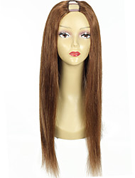 Color #6 Human Hair U Part Wig Brazilian Hair Upart Wigs 20Inch 130% Density 1*4Inch Middle Part U Shaped Wigs Fast Shipping
