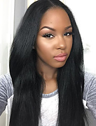 Yaki Straight Lace Wigs 100% Human Hair Lace Front Wigs For Black Women