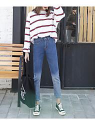 2017 весна новый знак гонконг аромат БФ ветер голубой градиент свободные джинсы ноги