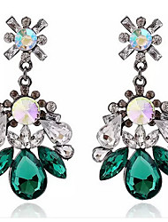 4 Colors Crystal Drop Earrings Jewelry Party Daily Casual Crystal Alloy 1 pair Multi Color