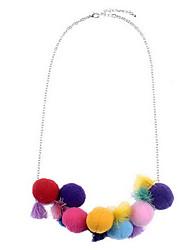 Women's Pendant Necklaces Statement Necklaces Imitation Diamond Alloy Leaf Fashion Vintage Euramerican Statement Jewelry Rainbow Jewelry