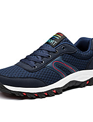 Men's Athletic Shoes Spring Fall Comfort PU Casual Hiking Lace-up Navy Blue Black/White Royal Blue