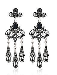 Diamond Crystal Stud Earrings Drop Earrings Earrings Jewelry Women Party Alloy Resin 1 pair Silver
