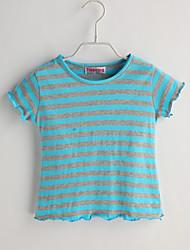 Baby T-Shirt,Lässig/Alltäglich Gestreift-Baumwolle-Sommer-Blau