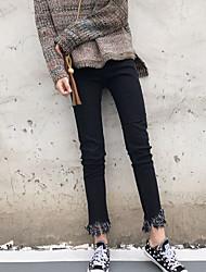 unterzeichnen koreanischen wilden Stretch Skinny Jeans weiblichen Fransen