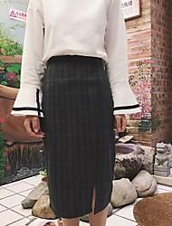 unterzeichnen Tartanmaterial Schritt Rock Röcke gespalten