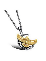 Men's Pendants Titanium Steel Animal Shape Basic Fashion Gold Silver Jewelry Daily Casual 1pc