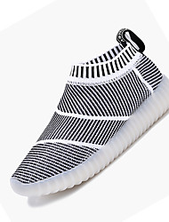 Boy's Sneakers Spring Summer Fall Winter Comfort Fabric Casual Flat Heel LED Black Blue Gray Running