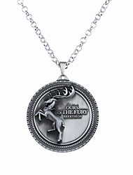Necklace Non Stone Pendant Necklaces Jewelry Halloween Circle Circular Design Unique Design Logo Style Dangling Style Alloy 1pc Gift