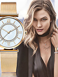 Women's Dress Watch Fashion Strap Watch Japanese Quartz Imitation Diamond Stainless Steel Band Vintage Charm Bangle Silver Gold Wrist watch