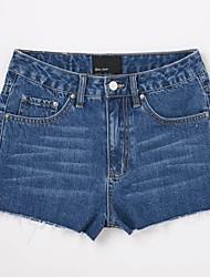 Femme Sexy Taille Basse Micro-élastique Jeans Short Pantalon,Mince Couleur Pleine