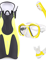 Snorkel Set Diving / Snorkeling Glass silicone Rubber-WHALE
