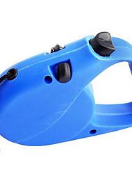 Cães Trelas Retratável Sólido Plástico Azul